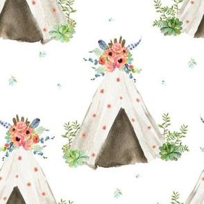 "8"" Peach and Navy Teepee"