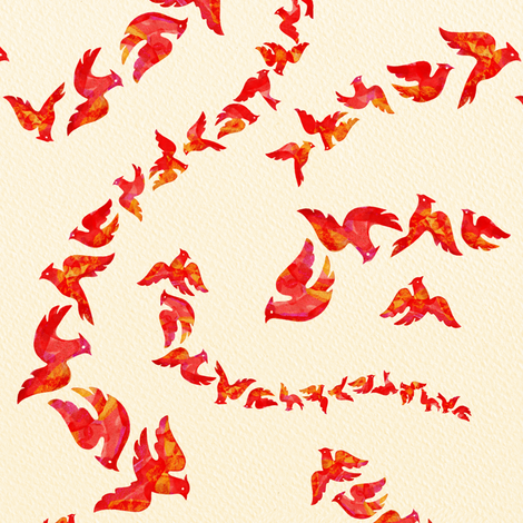 Cardinal Capers fabric by margodepaulis on Spoonflower - custom fabric