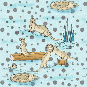 Otters and dots