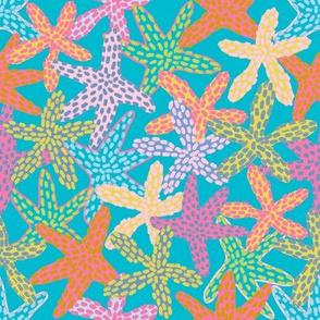 Starfishes Galore (scuba blue) N3