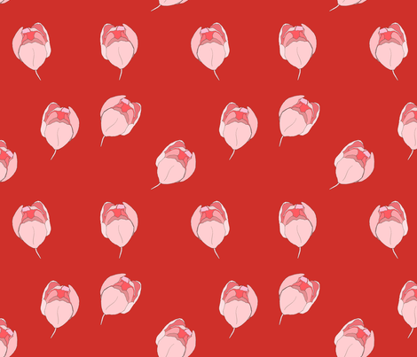 Tulip Blush fabric by carmen_ray_anderson on Spoonflower - custom fabric