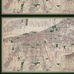 1910 Chicago map, small