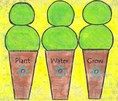 Topiaries plant water grow