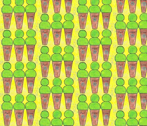 Topiaries plant water grow fabric by dee_dee_ebert on Spoonflower - custom fabric