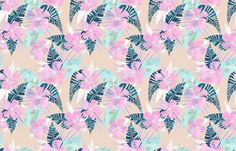 LaniKai flower F fabric by schatzibrown on Spoonflower - custom fabric