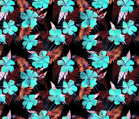 LaniKai flower H fabric by schatzibrown on Spoonflower - custom fabric