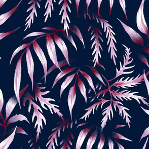 Brooklyn Forest - Orchid / Navy