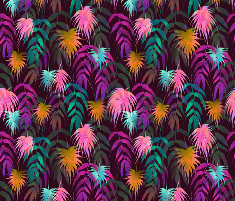 Palm Spring Fall fabric by schatzibrown on Spoonflower - custom fabric