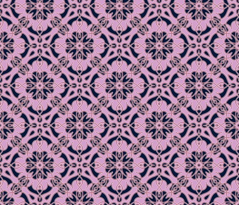 Orchid Navy Interlace fabric by enid_a on Spoonflower - custom fabric
