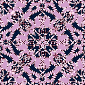 Orchid Navy Interlace