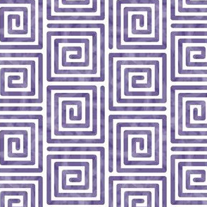 Purple Rectangle Spirals