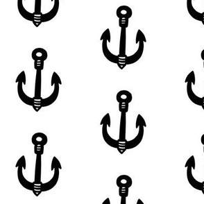 Big Anchors on White