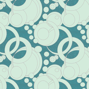 art deco bubbles - tiffany blue