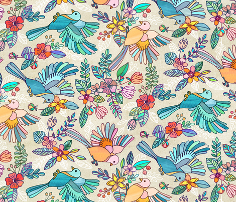 Whimsical Summer Flight rotated fabric by micklyn on Spoonflower - custom fabric
