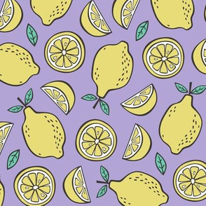 Lemon Citrus on Lavender Purpel
