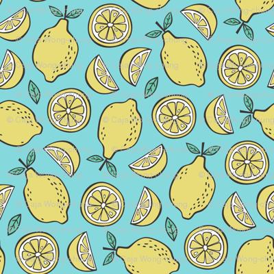 Lemon Citrus on Blue