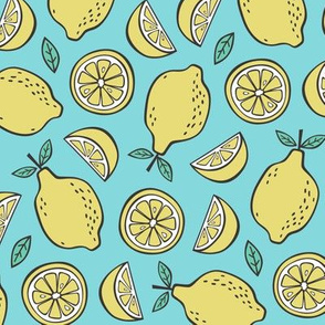 Lemon Citrus on Blue