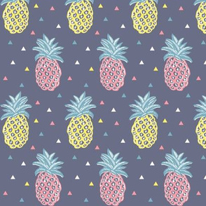 pineapple yellow and pink geometric