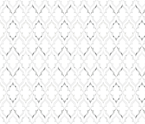 Gray Patterned Tile fabric by ampersand_designs on Spoonflower - custom fabric