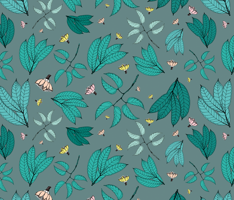 Botanic fabric by miss_ellebanna on Spoonflower - custom fabric