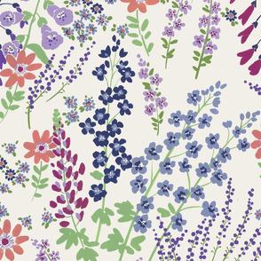Flower Garden (Blue lilac pink)
