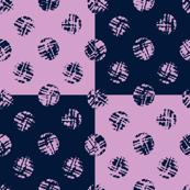 Polka dot on squares