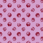 Burgundy polka dot from wine cork