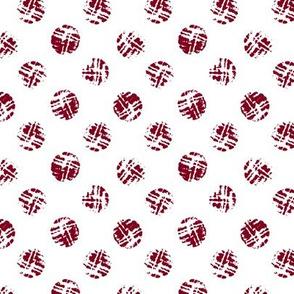 Polka dot from wine cork