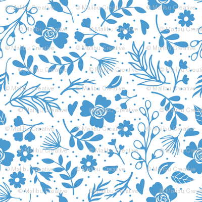 Timeless B - Tiny Floral - Blue