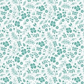 Timeless B - Tiny Floral - Teal