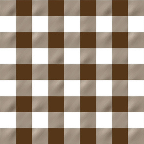 buffalo plaid 2in brown and white
