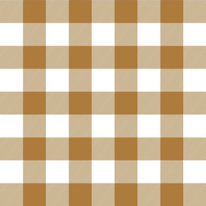 buffalo plaid 2in caramel and white