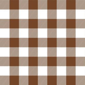 buffalo plaid 2in chocolate brown and white