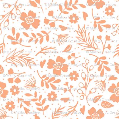 Timeless B - Tiny Floral - Peach