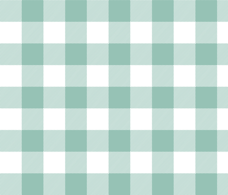buffalo plaid 2in faded teal and white fabric by misstiina on Spoonflower - custom fabric