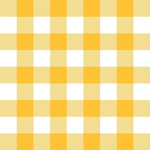 buffalo plaid 2in golden yellow and white