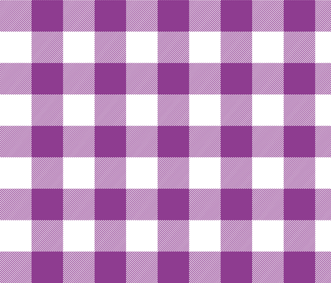 buffalo plaid 2in grape and white fabric by misstiina on Spoonflower - custom fabric