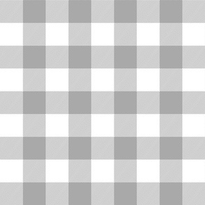 buffalo plaid 2in grey and white