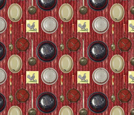 modern farmhouse kitchen fabric by leroyj on Spoonflower - custom fabric
