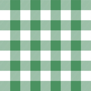 buffalo plaid 2in kelly green and white