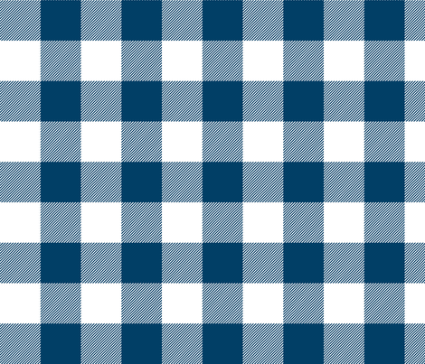 buffalo plaid 2in navy blue and white fabric by misstiina on Spoonflower - custom fabric