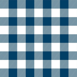 buffalo plaid 2in navy blue and white