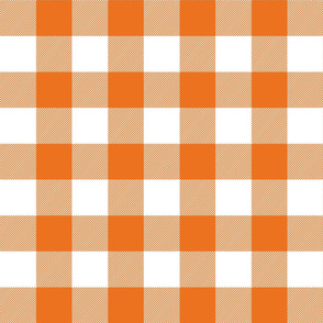 buffalo plaid 2in orange and white