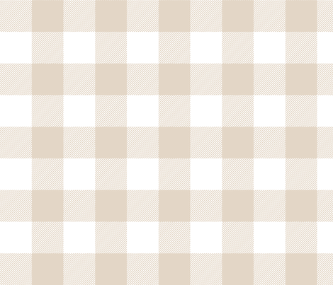 buffalo plaid 2in sand and white fabric by misstiina on Spoonflower - custom fabric