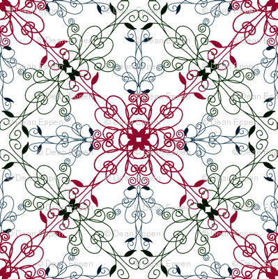 A repeating floral pattern
