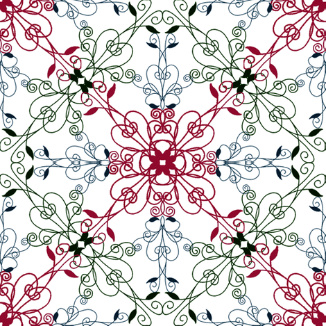 A repeating floral pattern fabric by summitseeker on Spoonflower - custom fabric