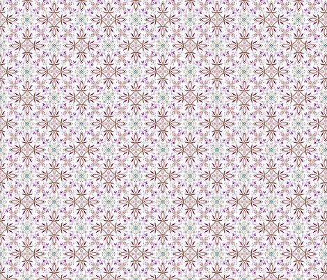 Repeating floral pattern fabric by summitseeker on Spoonflower - custom fabric