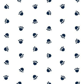 Pet Quilt B - Dog paws coordinate - navy