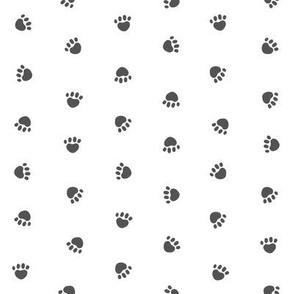 Pet Quilt A - Paws Coordinate - charcoal coordinate