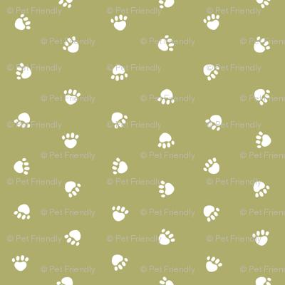 Pet Quilt D - Dog paw coordinate - lime